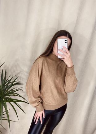 Базовый свитер от h&m и лосины утеплённые🖤1 фото