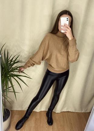 Базовый свитер от h&m и лосины утеплённые🖤4 фото