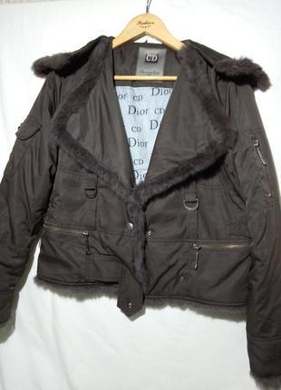 Christian dior vintage винтажная куртка пуховик на canada goose и кроличья шерсть