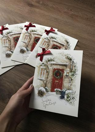Набор новогодних открыток clinton's 5шт.