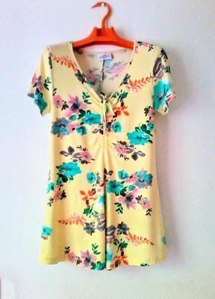 Вискозная летняя туника футболка блузка  gina benotti 38р-р