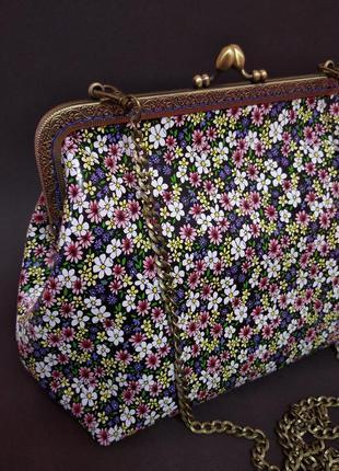 Кожанная сумка с фермуаром
