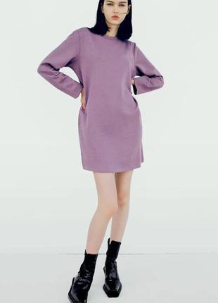 Теплое платье свитшот на флисе zara