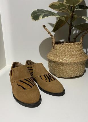 Туфли из натурального замша 37(24,5)