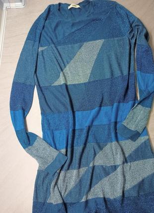 Нарядное женское платье с люрексом. праздничное платье