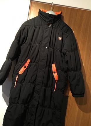 Длинный пуховик зимняя спортивная куртка оригинал dkny пальто дождевик