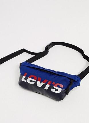 Сумка на пояс на плече бананка levis bum bag барсетка оригінал