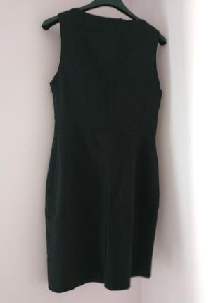 Офис, шерстяное деловое платье сарафан, натуральная костюмная шерсть, cnc costume national