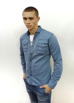 Рубашки мужские джинсовые турция