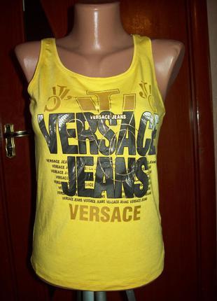 Желтая майка versace