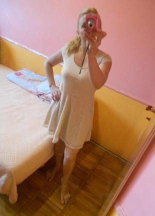 Платье кремовое ажурное