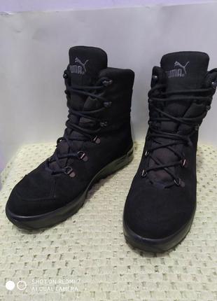 Замшевые ботинки puma gore-tex