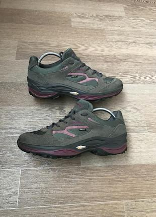 Кожаные кроссовки ботинки lowa gore tex