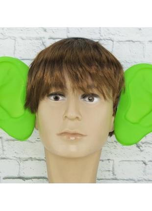 Аксессуар на ободке маскарадный уши локаторы зеленые
