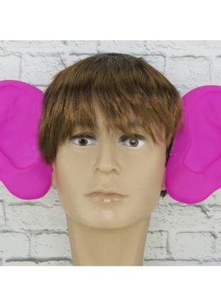 Аксессуар на ободке большие уши-локаторы малиновые