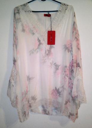 Шелковая блуза новая с биркой