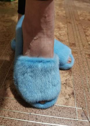 Тапочки из натуральной норки