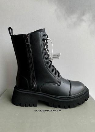 Ботинки черевики tractor fur winter black мех зима