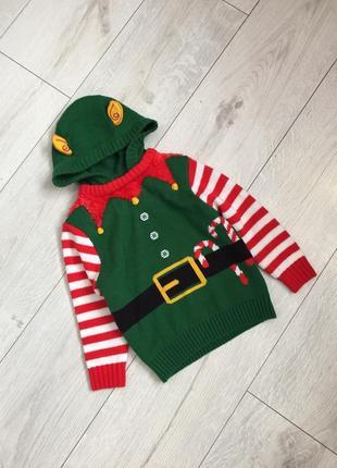 Новогодний свитер эльф от george