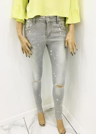 Lexxury очень крутые рваные джинсы в краске скинни с разрезами