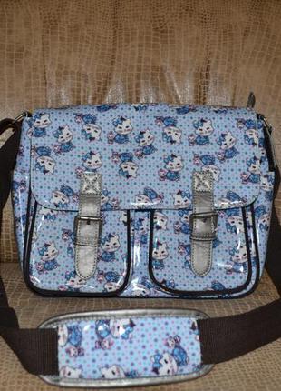 Стильная сумка orioles (англия) с кошачьим принтом.