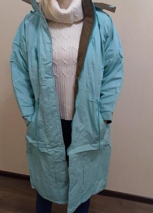 Куртка парка бирюзовая 🔥 легкая