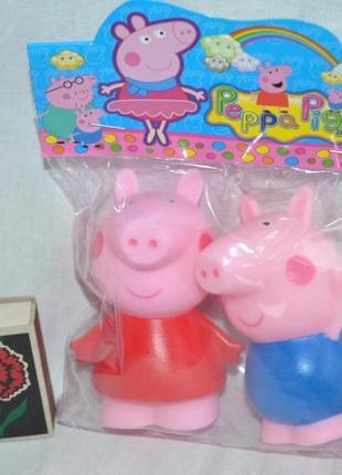 Пищалки резиновые peppa pig свинка пеппа и джордж для ванной и игры