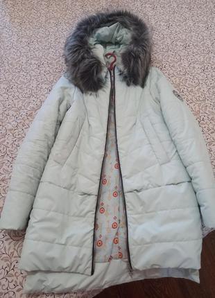 Зимнее пальтишко, мятное