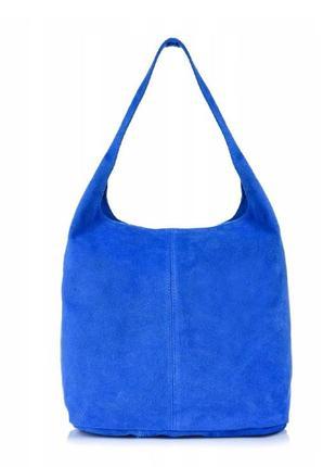 Шикарная замшевая сумка-торба, италия