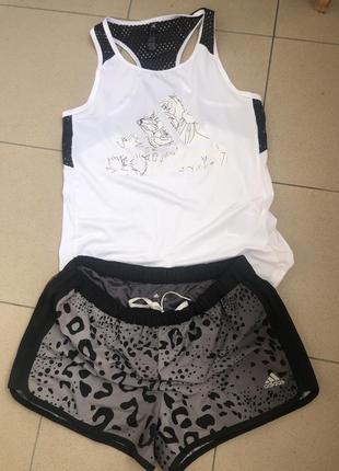Комплект шорты и майка adidas s xs для спорта nike