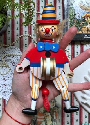 Деревянная игрушка клоун дерево