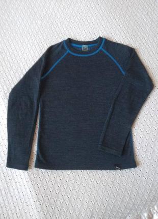 Термореглан з мериносової шерсті футболка термо лонгслив термобілизна термобелье шерстяное