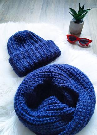 Новый тепленький наборчик шапочка и хомут 😍