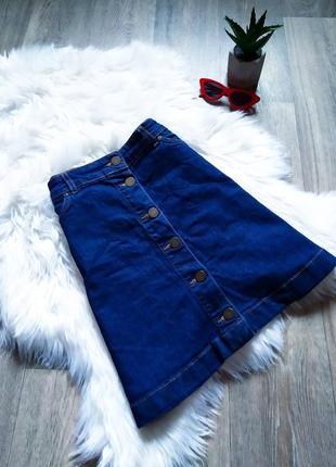 Актуальная джинсовая юбочка с пуговицами и карманами 😍
