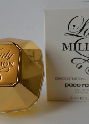 Paco rabanne lady million  парфюмированная вода тестер 80 мл оригинал франция
