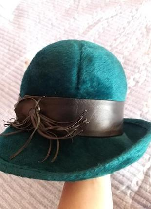 Шляпа винтаж фетр лайка