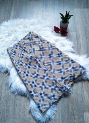 Бежевая класическая юбка-миди в стиле burberry😍