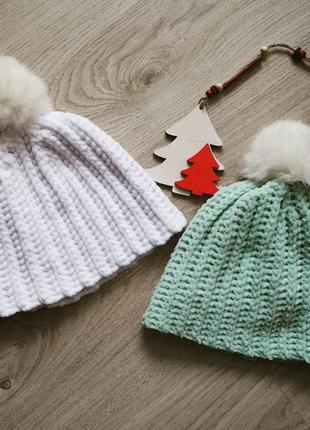 Детская плюшевая шапка