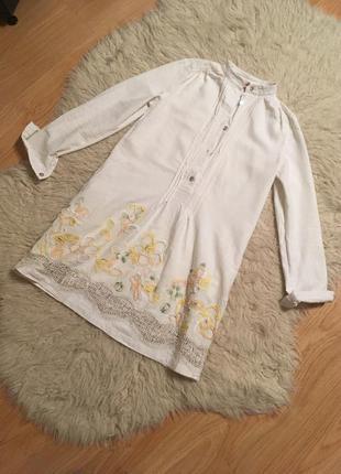 Платье льняное вышивка  украинский дизайнер vesela размер s
