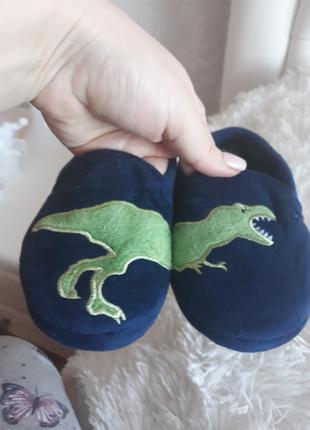 Тапочки с динозавром