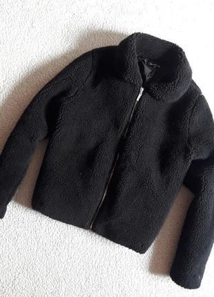 Мягкая куртка шубка тедди с карманами