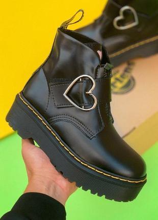 Ботинки dr. martens x lazy oaf chunky buckle boot черные / без меха / демисезонные