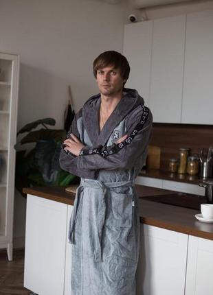 Мужские халаты премиум качества с капюшоном  💯 хлопок турция, расцветки и размеры