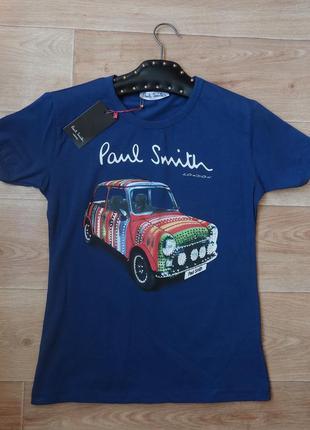 Классная синяя футболка с машиной . новая