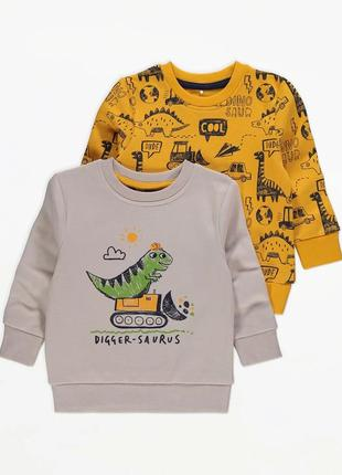 Чудові світшоти на флісовому начосі з динозавриками джордж для хлопчика (поштучно)
