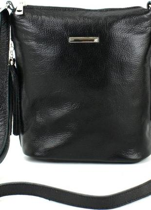 Сумка женская черная натуральная кожа 878.023