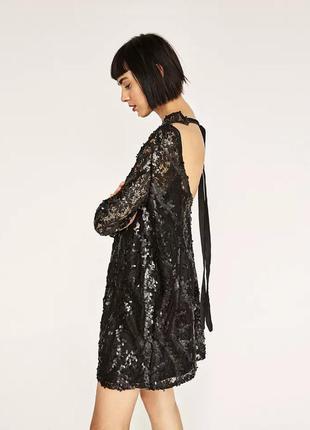 Платье с пайетками зара новое с биркой, оригинал