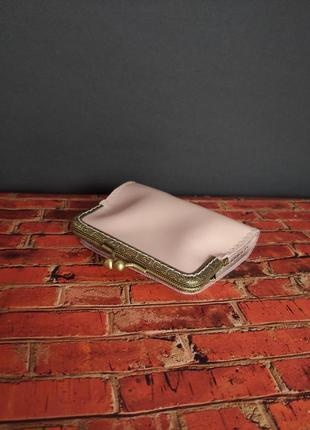 Стильный винтажный кожаный кошелек, ручная работа