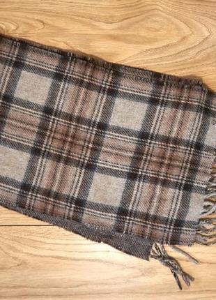 Брендовий шикарний  шерстяний шарф