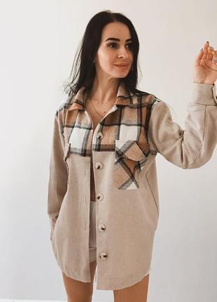 Рубашка теплая кашемир шерсть
